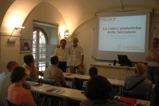 Presidente Falci e Vice Rettore università a lezione conlcusa